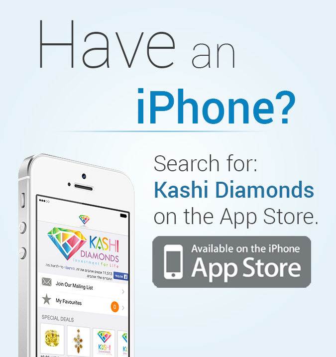 Kashi Diamond Mobile Applications for iPhone and Android Banner