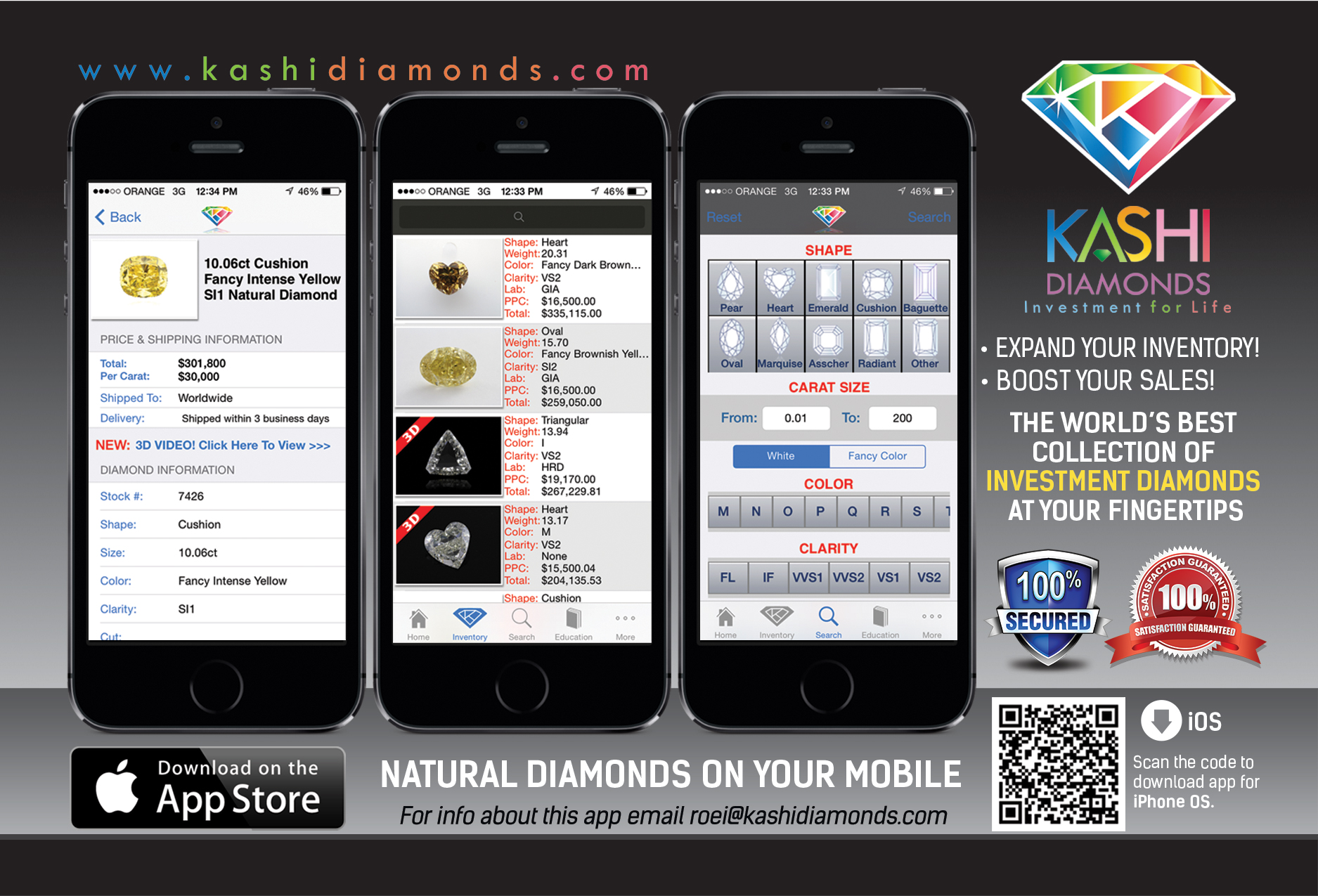 Kashi Diamonds iPhone Application Screenshots